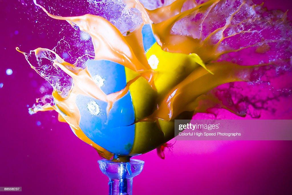 Paintball Blast : Stock Photo