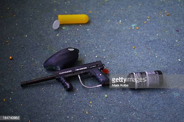 A paintball gun is seen in the paintball competition at Spitfire Indoor Paintball during the World Firefighter's Games Sydney 2012 on October 22 2012...