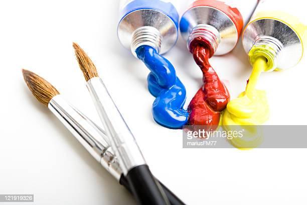 Pinsel und Farbe Röhren-Serie