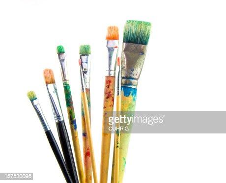 Paintbrushes used