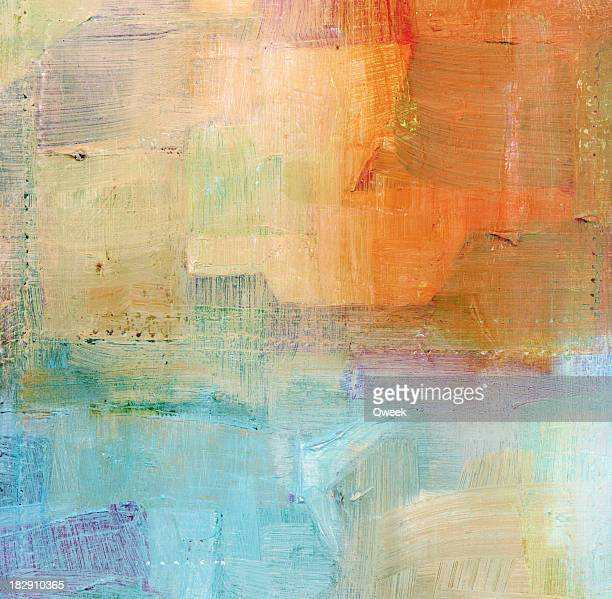 Painted Blue and Orange Background