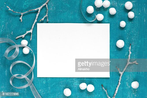 Painted blue background with decoration : Stockfoto