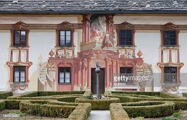 ペイントされた建物で、ババリア,ドイツ Oberammergau