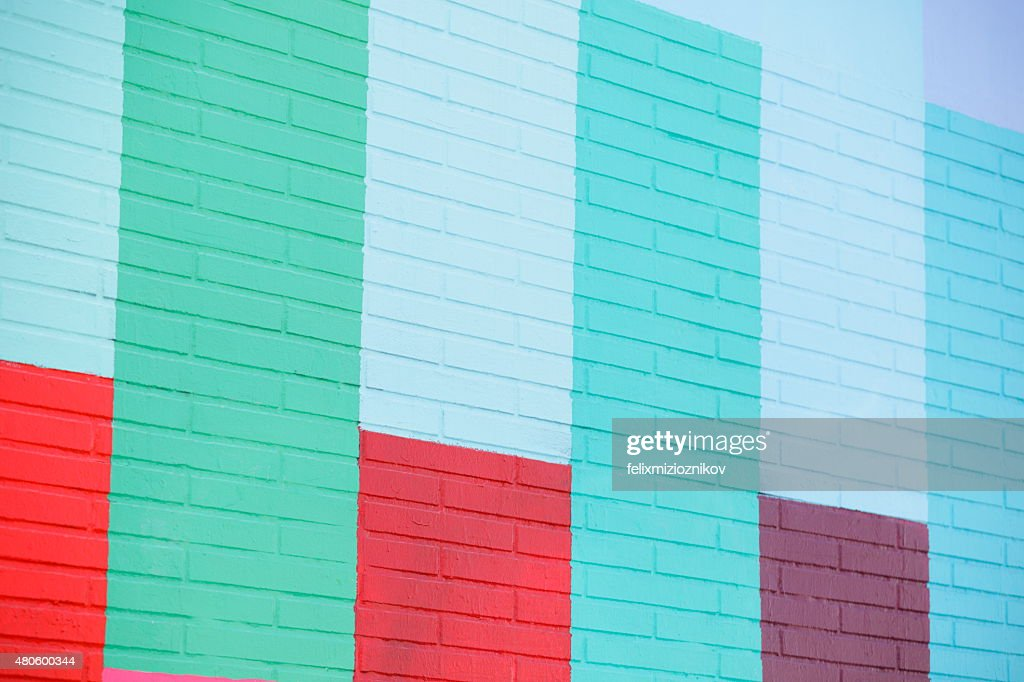 Painted building wall : Stock Photo