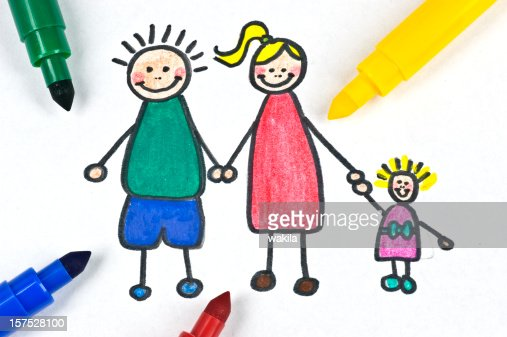 painted Familie illustration : Stock-Foto