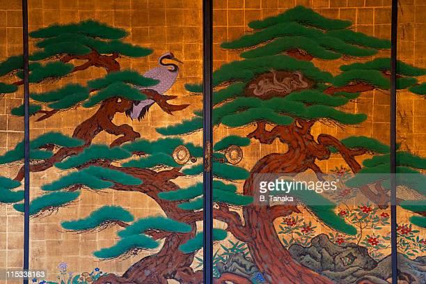 Painted Fusuma Doors at Kyoto's Daikakuji Temple