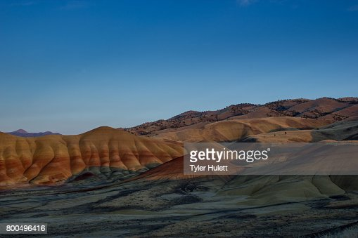 Painted Hills at sunset : Stock Photo
