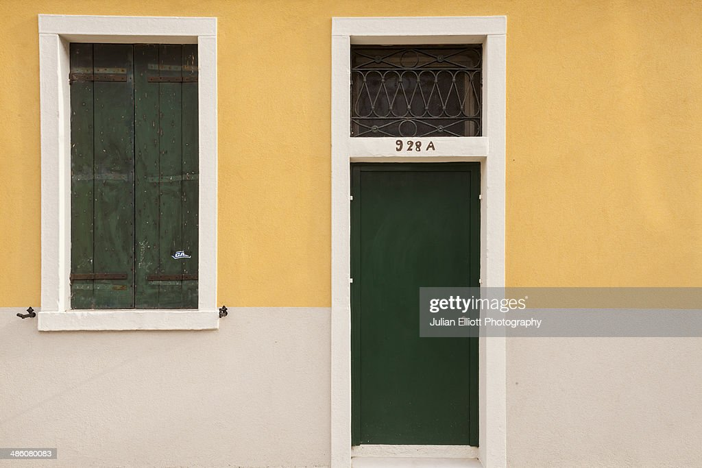 A painted house on the island of Giudecca, Venice. : Stock Photo