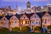 Painted ladies, San Francisco, California, America