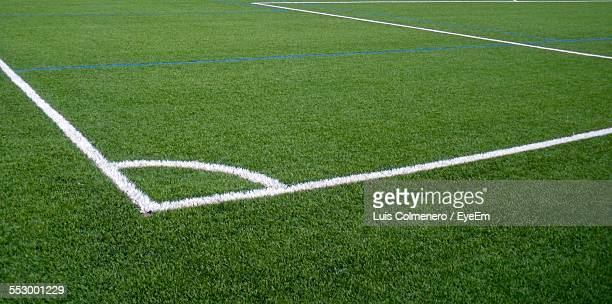 Painted Lines On Soccer Field