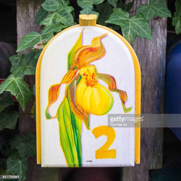 Painted Mailbox for Houseboat Residents, Granville Island, Vancouver, British Columbia, Canada