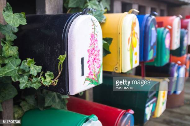 Painted Mailboxes for Houseboat Residents, Granville Island, Vancouver, British Columbia, Canada