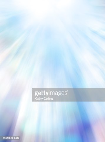 Painted multi coloured background rays