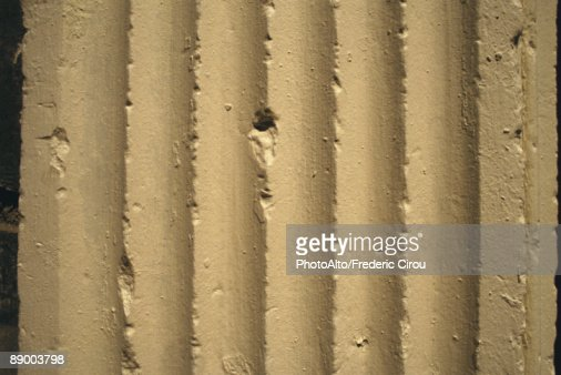 Painted ridged surface