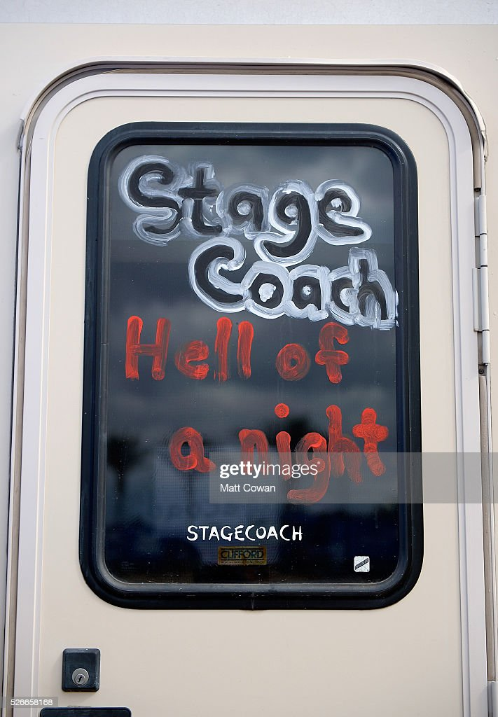 A painted RV door is seen during 2016 Stagecoach California's Country Music Festival at Empire Polo Club on April 30, 2016 in Indio, California.