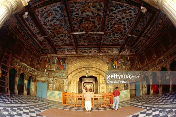 Painted temple in Shekhawati, Rajasthan, India.