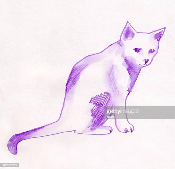 Dipinto ad acquerello di gatto