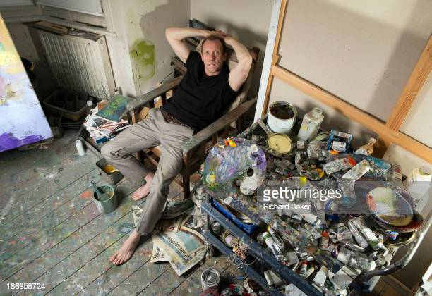 Painter and former assistant to Lucien Freud is photographed David Dawson for the Observer on August 7 2013 in London England
