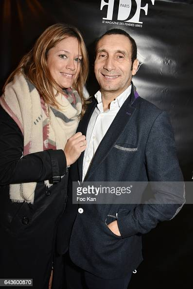 Painter Caroline Faindt and her husband actor Zinedine Soualem attend the FDF Magazine Launch Party at Hotel Christian Dior on February 21 2017 in...