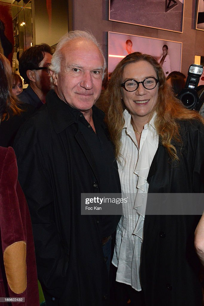 Painter Claude Lazar and his wife attend the 'Renoma 50th Anniversary' at Renoma Store Rue de La Pompe on October 22, 2013 in Paris, France.