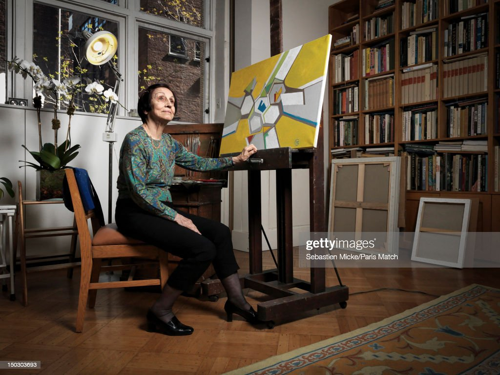 Painter Francoise Gilot and artistic muse and lover of Pablo Picasso from 1944 to 1953 is photographed for Paris Match on April 17, 2012 in New York City.