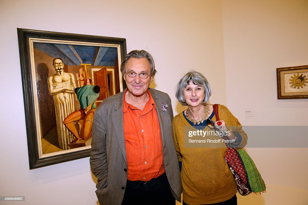 Painter Gerard Garouste and his wife attend the 'Marcel Duchamp, La Peinture, Meme' Exhibition : Press Preview. Held at Centre Pompidou (Beaubourg) on September 22, 2014 in Paris, France.