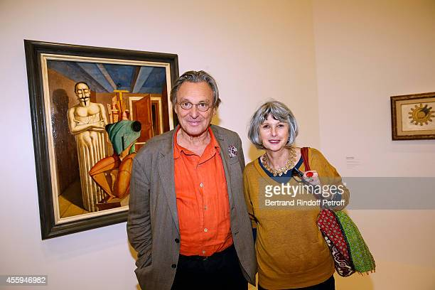 Painter Gerard Garouste and his wife attend the 'Marcel Duchamp La Peinture Meme' Exhibition Press Preview Held at Centre Pompidou on September 22...
