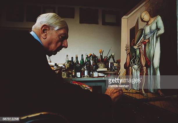 Painter Giorgio de Chirico at Work