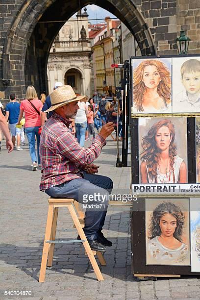 Painter in Prague