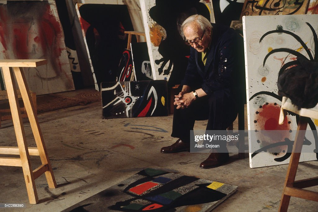 Painter Juan Miro in His Studio