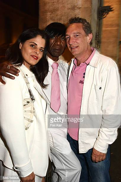 Painter Lee Michel Dexter Dex Tao and Olivier MichelÊattend the Dexter Dex Tao Birthday Party at the Xu Sushis bar on July 12 2016 in Paris France
