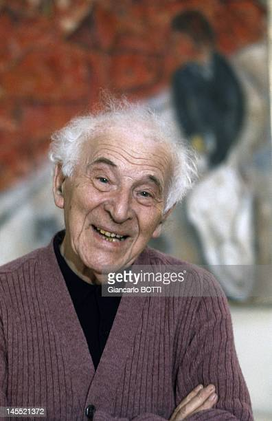 Painter Marc Chagall circa 1970 in France