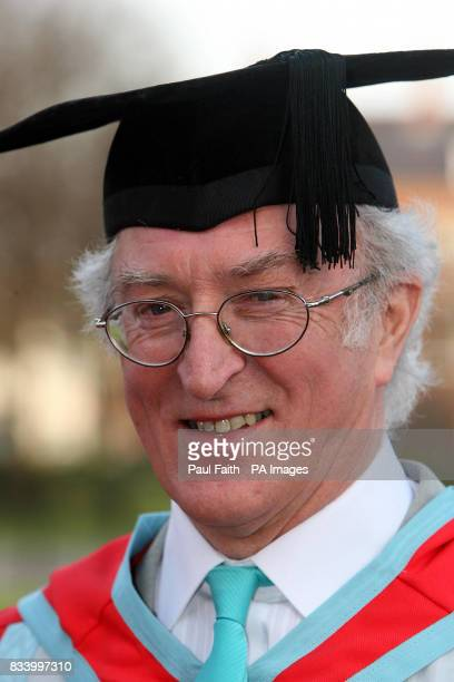 Painter Neil Shawcross after he was awarded an honorary Doctorate from the University of Belfast for distinction as an artist