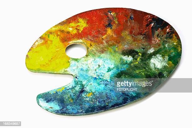 palette de couleurs peintre