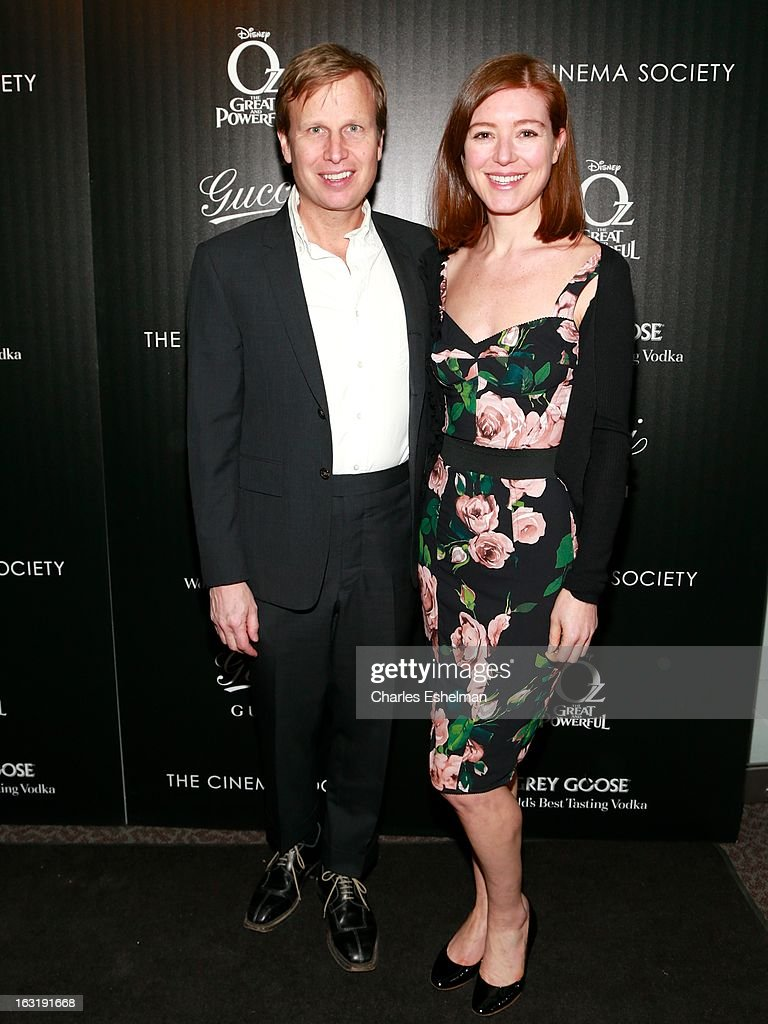 Painter Will Cotton and guest attends the Gucci and The Cinema Society screening of 'Oz the Great and Powerful' at the DGA Theater on March 5, 2013 in New York City.
