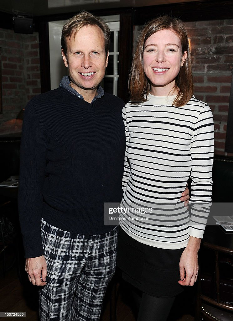 Painter Will Cotton and Rose Dergan of the Gagosian Gallery attend GQ's The Style Guy party at The Beatrice Inn on November 19, 2012 in New York City.