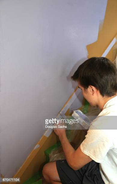 Painting an interior wall