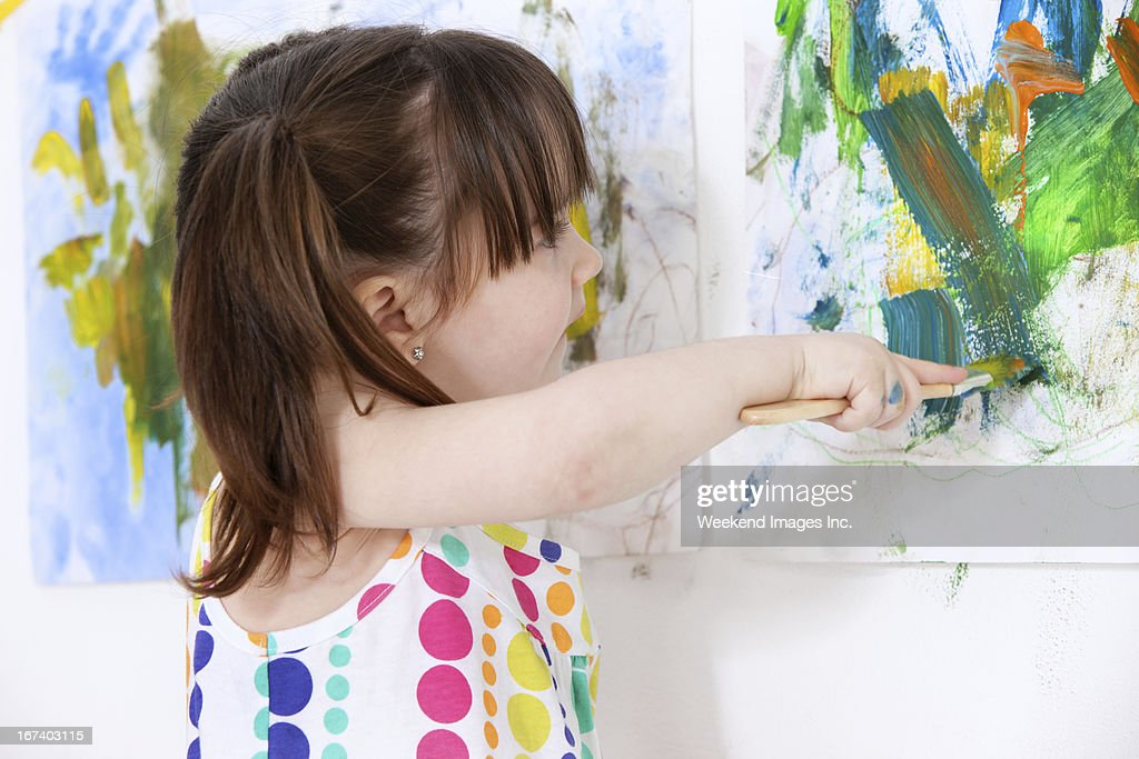 Painting at home : Stock Photo