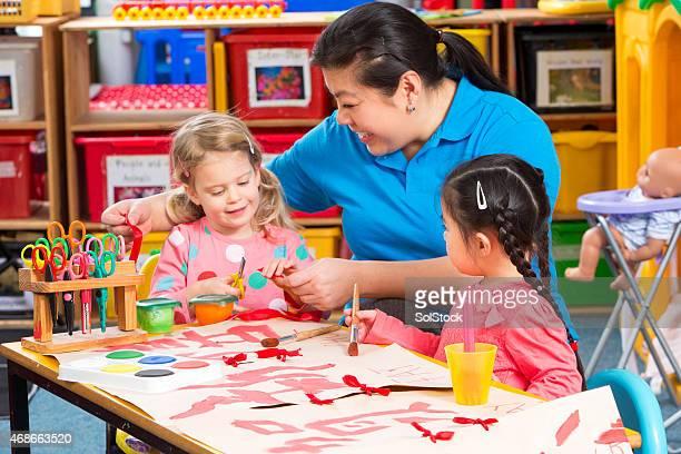 Painting at Nursery