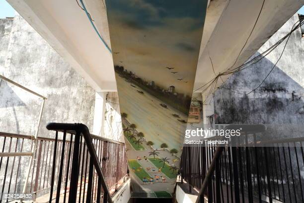 A painting at Phnom Penh's iconic White Building It was built in 1963 as a modern Municipal Apartment The iconic building is slated to be demolished...