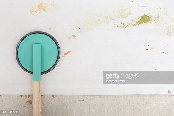 Painting Background with Paint Can Lid