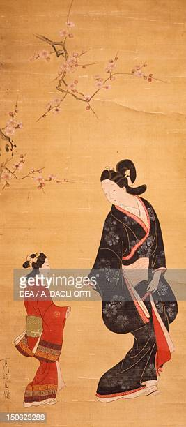 Painting by Hishikawa Moronobu Japan Japanese Civilisation 17th century