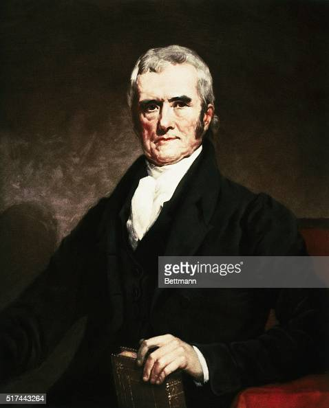 Painting by T Hamilton Crawford of Supreme Court Chief Justice John Marshall He served as justice from 18011833 Undated illustration