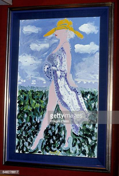 Painting by Tony Curtis at Tony Curtis' Art Exhibition at the Sands Hotel and Casino circa 1987 in Atlantic City New Jersey