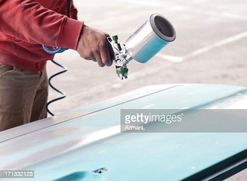 Painting car parts