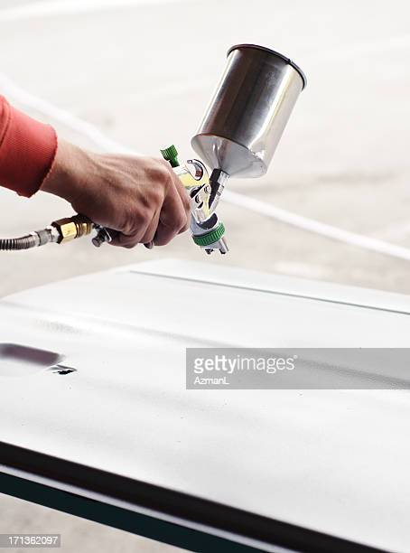 Painting car parts
