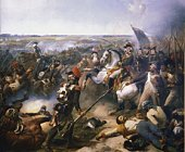 Painting depicting the Battle of Fleurus