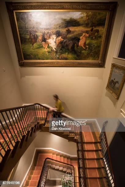 A painting entitled Colt Hunting In The New Forest by Lucy KempWelch hangs above the stairs in the Fred Packard Galleries at Palace House the...