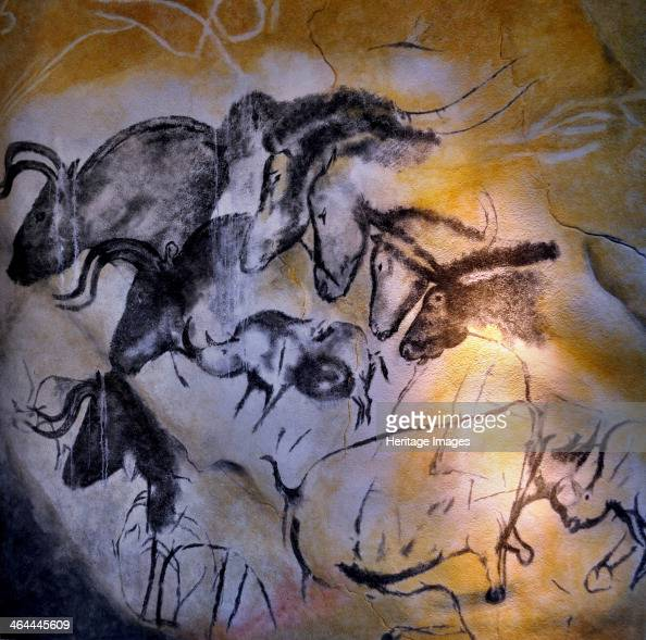 Painting in the Chauvet cave00030000 BC
