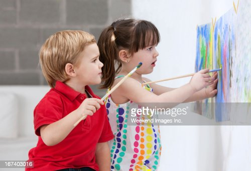Painting kids : Stock Photo